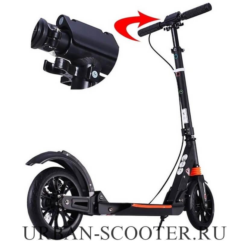 Городской самокат с дисковым тормозом Urban Scooter SR2-020 Чёрный - 4