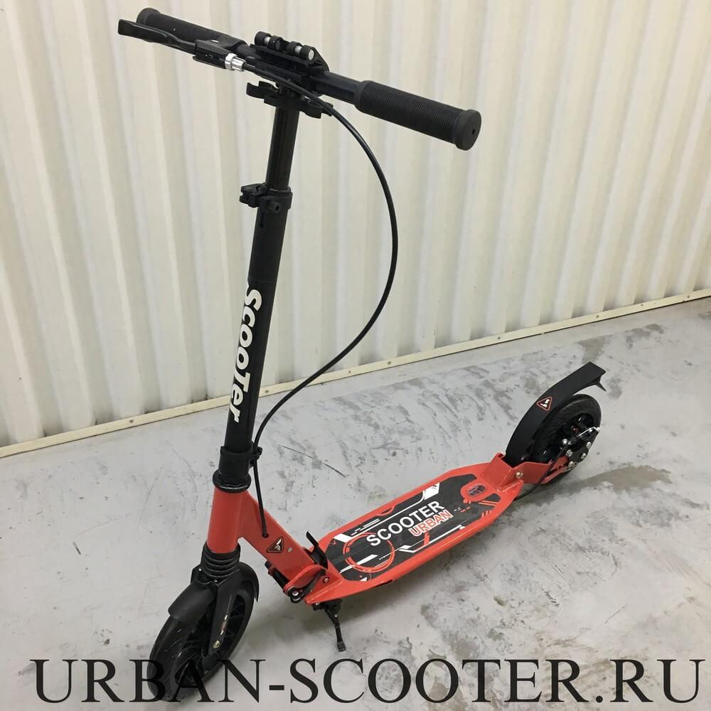 Самокат с дисковым тормозом Urban Scooter SR2-020 Disk Красный - 1