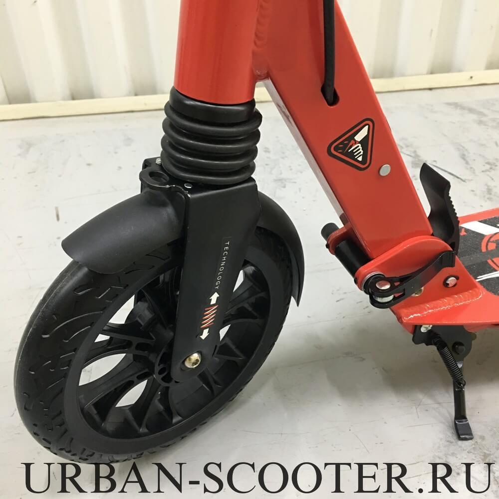 Самокат с дисковым тормозом Urban Scooter SR2-020 Disk Красный - 2