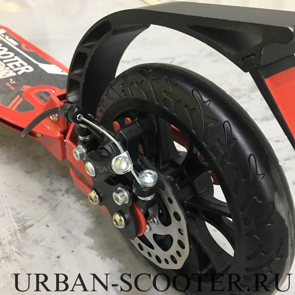 Самокат с дисковым тормозом Urban Scooter SR2-020 Disk Красный - 3