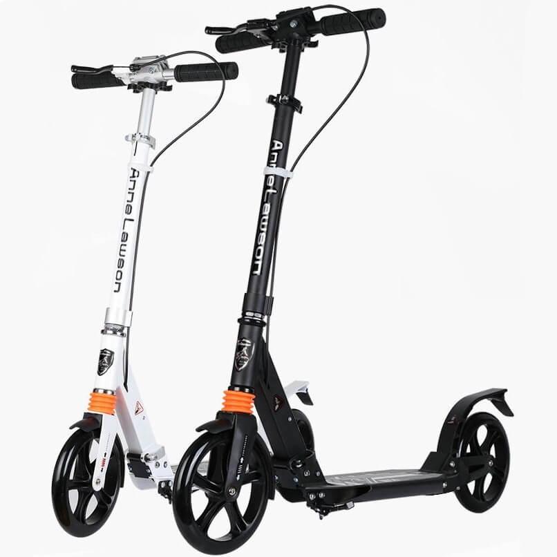 Городской самокат Urban Scooter Sport Чёрный и Белый