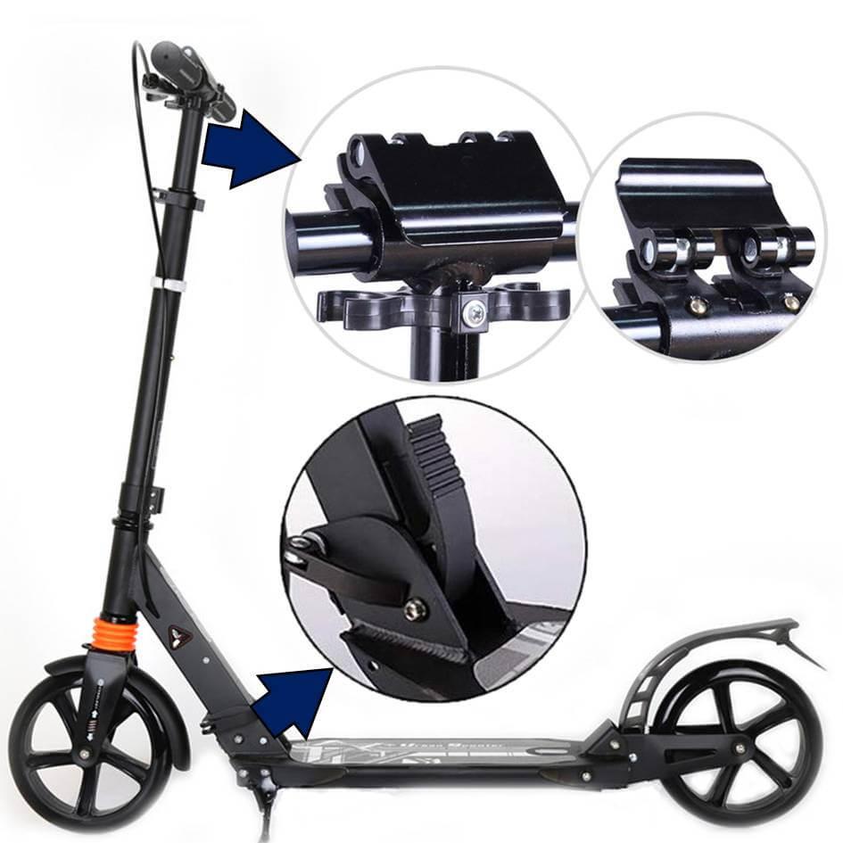 Городской самокат Urban Scooter Sport Чёрный - особенности