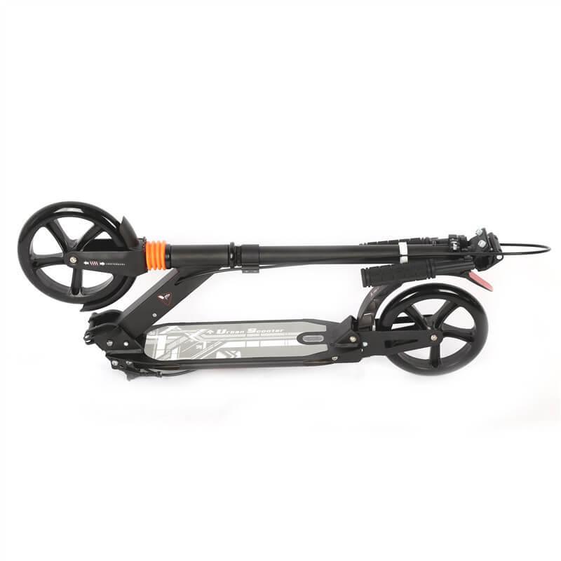 Городской самокат Urban Scooter Sport Чёрный в сложенном виде